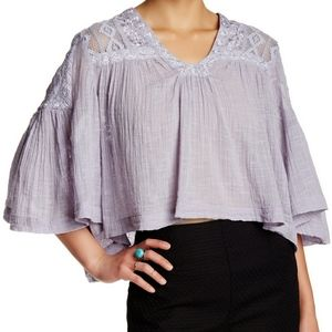 Free People Carry Me Away Cotton Boho Blouse